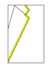 Schneiderkante Revers