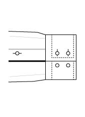 Sportmanschette doppel Zweiknopf